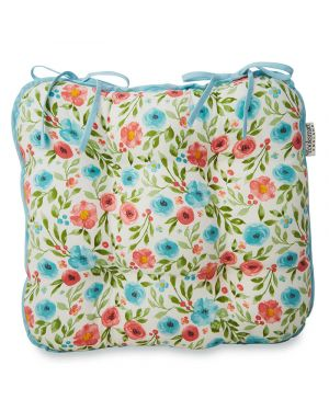 Country Floral Seat Pad