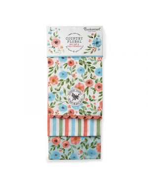 Country Floral 3 Pack Tea Towels