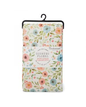 Country Floral Small PVC Coated Tablecloth