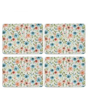 Country Floral Pack of 4 Placemats