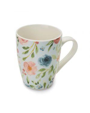 Country Floral Bullet Mug Blue